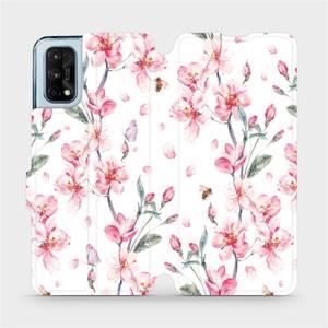 Flipové pouzdro Mobiwear na mobil Realme 7 Pro - M124S Růžové květy