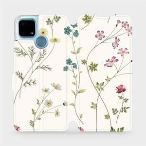 Flip pouzdro Mobiwear na mobil Realme 7i - MD03S Tenké rostlinky s květy