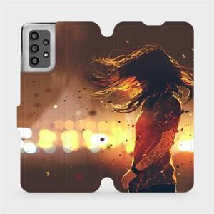 Flip pouzdro Mobiwear na mobil Samsung Galaxy A32 LTE - MA02S Tetovaná dívka