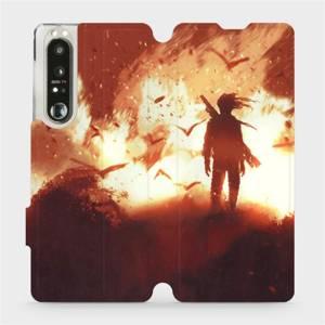 Flip pouzdro Mobiwear na mobil Sony Xperia 1 III - MA06S Postava v ohni