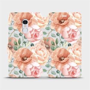 Flip pouzdro Mobiwear na mobil Xiaomi Redmi Note 4 Global - MP02S Pastelové květy
