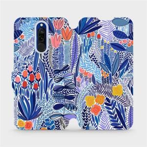 Flip pouzdro Mobiwear na mobil Xiaomi Redmi 8 - MP03P Modrá květena
