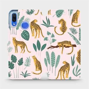 Flip pouzdro Mobiwear na mobil Huawei Nova 3 - MP07S Leopardi