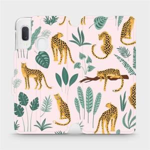 Flip pouzdro Mobiwear na mobil Samsung Galaxy A20e - MP07S Leopardi