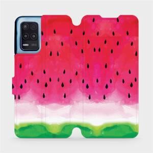 Flip pouzdro Mobiwear na mobil Realme 8 5G - V086S Melounek