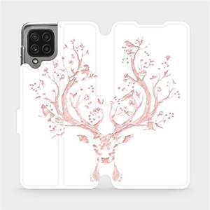Flip pouzdro Mobiwear na mobil Samsung Galaxy M22 - M007S Růžový jelínek