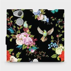 Flipové pouzdro Mobiwear na mobil Sony Xperia XA2 - VD09S Ptáčci a květy