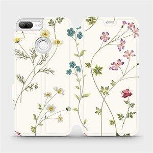 Flipové pouzdro Mobiwear na mobil Honor 9 Lite - MD03S Tenké rostlinky s květy