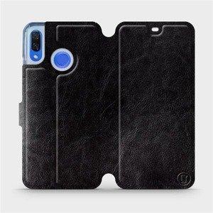 Flipové pouzdro Mobiwear na mobil Huawei Nova 3 v provedení C_BLS Black&Gray s šedým vnitřkem