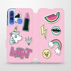 Flipové pouzdro Mobiwear na mobil Honor 20 Lite - M129S Růžové WHAT