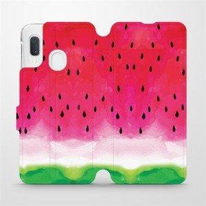 Flipové pouzdro Mobiwear na mobil Samsung Galaxy A20e - V086S Melounek