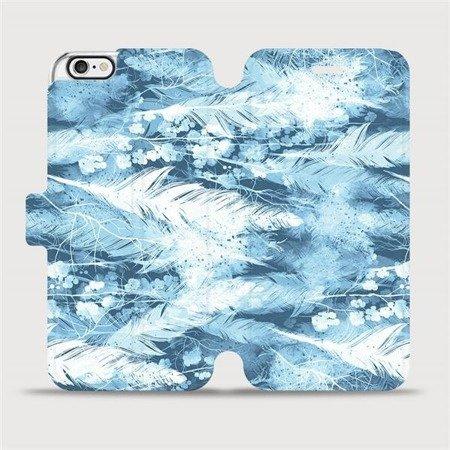 Flipové pouzdro Mobiwear na mobil Apple iPhone 6 / iPhone 6s - M058S Světle modrá horizontální pírka