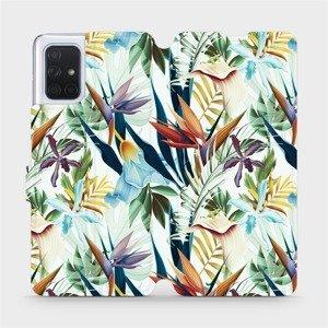 Flipové pouzdro Mobiwear na mobil Samsung Galaxy A71 - M071P Flóra