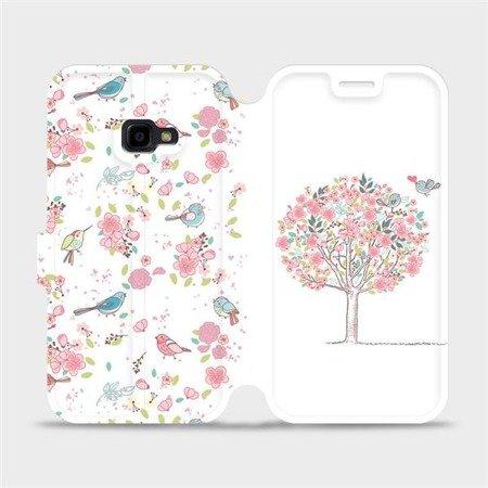 Flipové pouzdro Mobiwear na mobil Samsung Xcover 4 - M120S Strom a ptáčci