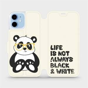 Flipové pouzdro Mobiwear na mobil Apple iPhone 12 mini - M041S Panda - life is not always black and white