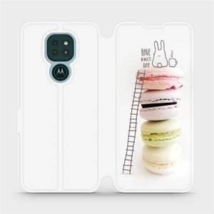 Flipové pouzdro Mobiwear na mobil Motorola Moto G9 Play - M090P Makronky - have a nice day