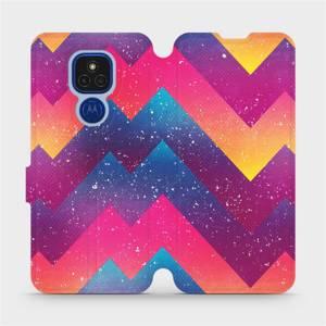 Flipové pouzdro Mobiwear na mobil Motorola Moto E7 Plus - V110S Barevné klikyháky