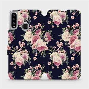 Flipové pouzdro Mobiwear na mobil Samsung Galaxy A20S - V068P Růžičky - výprodej