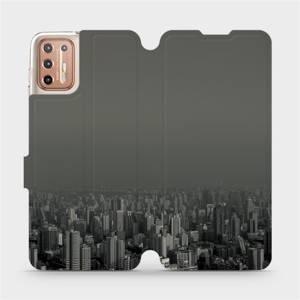 Flipové pouzdro Mobiwear na mobil Motorola Moto G9 Plus - V063P Město v šedém hávu