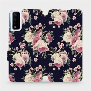 Flipové pouzdro Mobiwear na mobil Vivo Y11S - V068P Růžičky