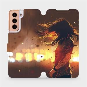 Flipové pouzdro Mobiwear na mobil Samsung Galaxy S21 5G - MA02S Tetovaná dívka