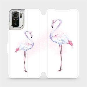 Flipové pouzdro Mobiwear na mobil Xiaomi Redmi Note 10S - M005S Plameňáci