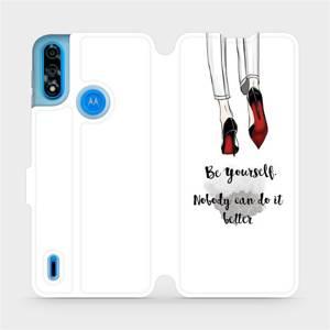 Flipové pouzdro Mobiwear na mobil Motorola Moto E7 Power - M046P Be yourself