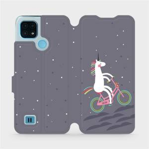 Flip pouzdro Mobiwear na mobil Realme C21 - V024P Jednorožec na kole