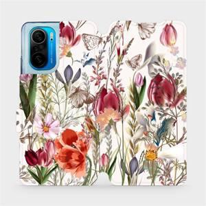 Flip pouzdro Mobiwear na mobil Xiaomi POCO F3 - MP01S Rozkvetlá louka