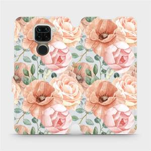 Flip pouzdro Mobiwear na mobil Xiaomi Redmi Note 9 - MP02S Pastelové květy