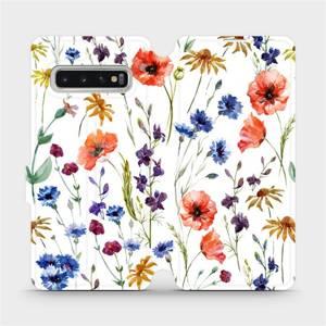 Flip pouzdro Mobiwear na mobil Samsung Galaxy S10 - MP04S Luční kvítí