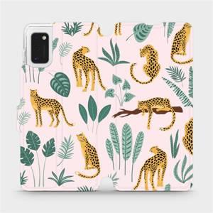 Flip pouzdro Mobiwear na mobil Samsung Galaxy A41 - MP07S Leopardi
