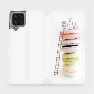 Flip pouzdro Mobiwear na mobil Samsung Galaxy M22 - M090P Makronky - have a nice day