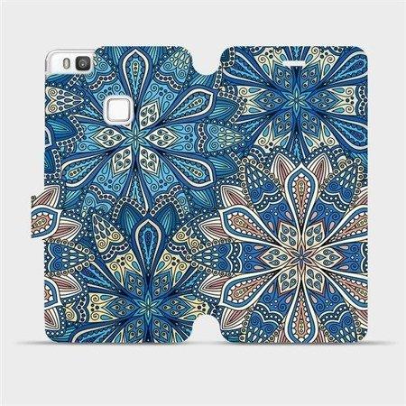 Flipové pouzdro Mobiwear na mobil Huawei P9 Lite - V108P Modré mandala květy