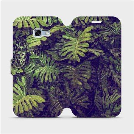 Flipové pouzdro Mobiwear na mobil Samsung Galaxy A3 2017 - V136P Zelená stěna z listů