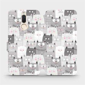 Flipové pouzdro Mobiwear na mobil Huawei Mate 10 Lite - M099P Kočičky