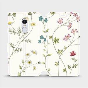 Flipové pouzdro Mobiwear na mobil Xiaomi Redmi Note 4 Global - MD03S Tenké rostlinky s květy
