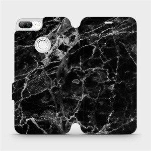 Flipové pouzdro Mobiwear na mobil Honor 9 Lite - V056P Černý mramor