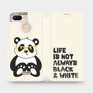 Flipové pouzdro Mobiwear na mobil Xiaomi Redmi 6 - M041S Panda - life is not always black and white