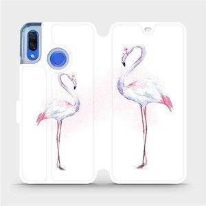 Flipové pouzdro Mobiwear na mobil Huawei Nova 3 - M005S Plameňáci