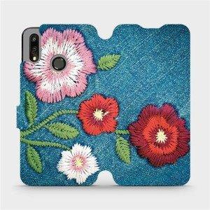 Flipové pouzdro Mobiwear na mobil Huawei P Smart 2019 - MD05P Džínové květy