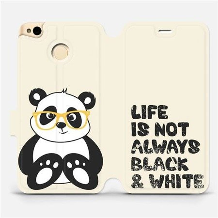 Flipové pouzdro Mobiwear na mobil Xiaomi Redmi 4X - M041S Panda - life is not always black and white