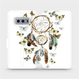 Flipové pouzdro Mobiwear na mobil Samsung Galaxy S10e - M001P Lapač a motýlci