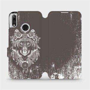 Flipové pouzdro Mobiwear na mobil Huawei Y7 2019 - V064P Vlk a lapač snů