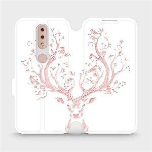 Flipové pouzdro Mobiwear na mobil Nokia 4.2 - M007S Růžový jelínek