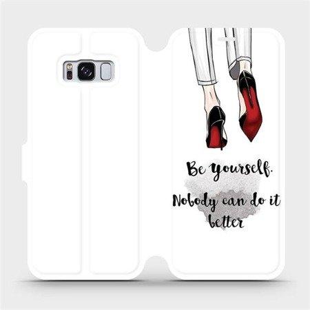 Flipové pouzdro Mobiwear na mobil Samsung Galaxy S8 - M046P Be yourself