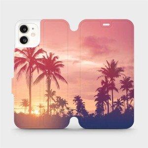 Flipové pouzdro Mobiwear na mobil Apple iPhone 11 - M134P Palmy a růžová obloha