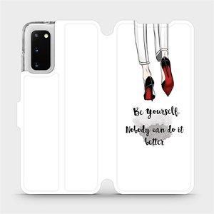 Flipové pouzdro Mobiwear na mobil Samsung Galaxy S20 - M046P Be yourself