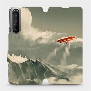 Flipové pouzdro Mobiwear na mobil Sony Xperia 1 II - MA03P Oranžové letadlo v horách