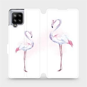 Flipové pouzdro Mobiwear na mobil Samsung Galaxy A42 5G - M005S Plameňáci